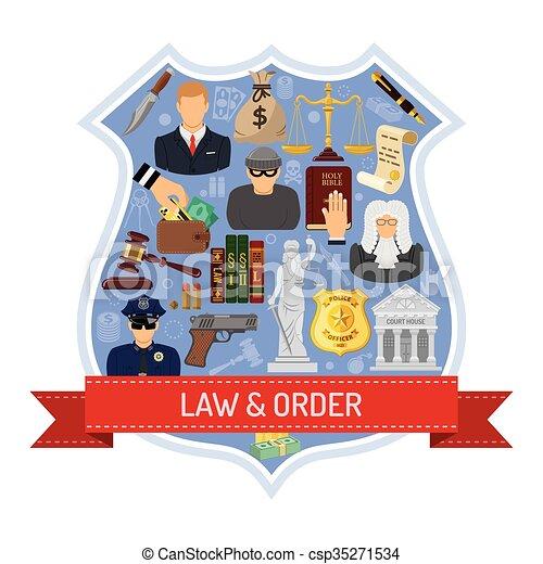 El concepto de ley y orden - csp35271534