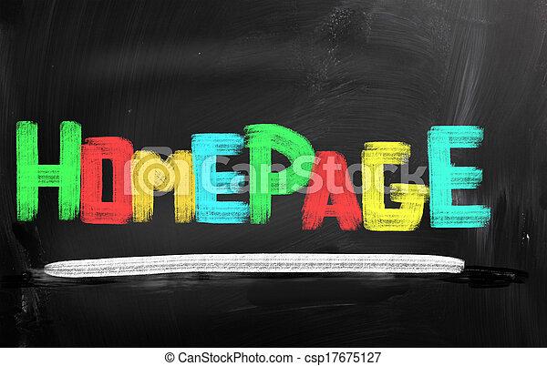 concepto, página principal - csp17675127