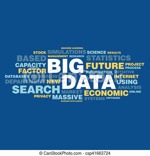 concepto, palabra, grande, etiqueta, datos, nube - csp41663724