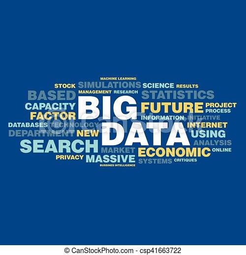 concepto, palabra, grande, etiqueta, datos, nube - csp41663722