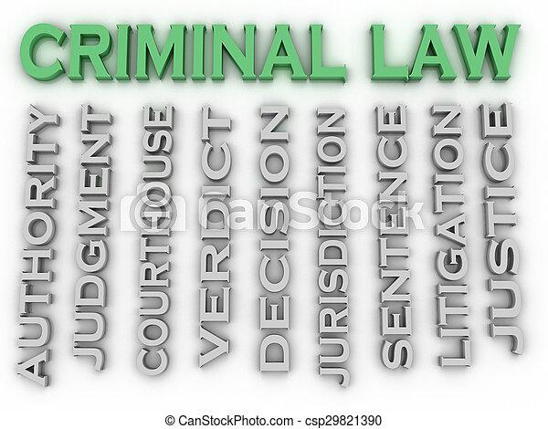 concepto, palabra, imagen, nube, criminal, ley, 3d - csp29821390