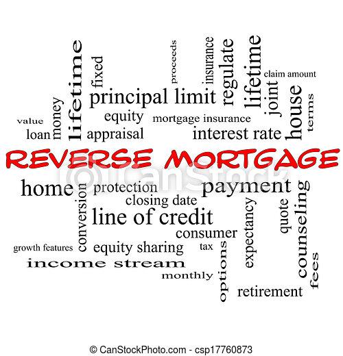 Invierte el concepto de la palabra de la hipoteca en gorras rojas - csp17760873