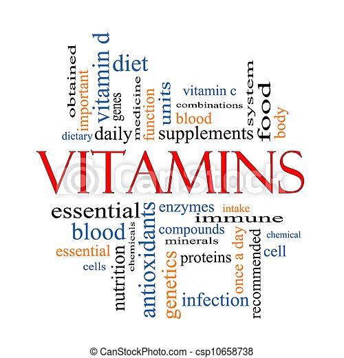 Vitaminas, concepto de nubes - csp10658738