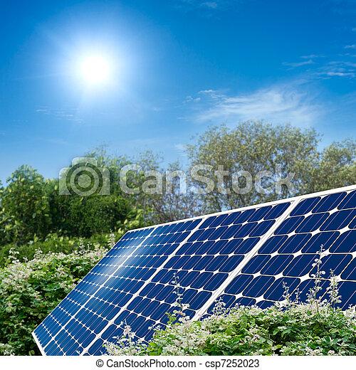 Concepto del panel solar - csp7252023