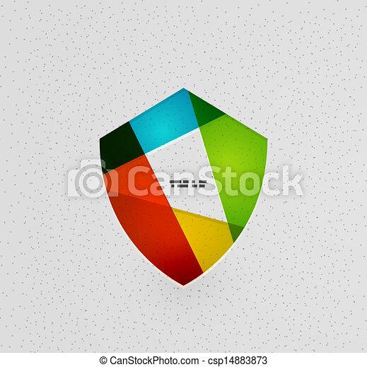Un colorido concepto de escudo protector - csp14883873
