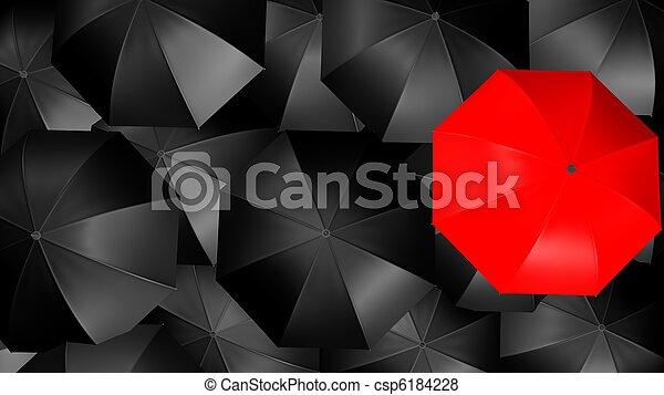 Un concepto de paraguas - csp6184228