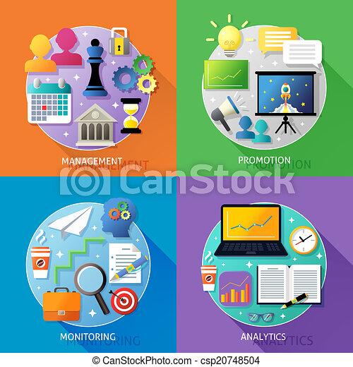 El concepto de los pasos de negocios - csp20748504