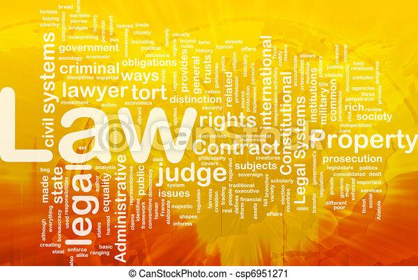 concepto, plano de fondo, ley - csp6951271