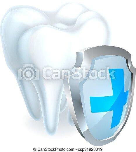 El concepto del escudo dental - csp31920019