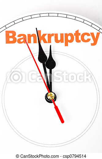 Concepto la bancarrota - csp0794514