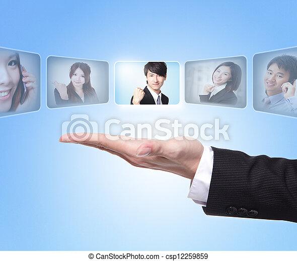 El concepto de recursos humanos - csp12259859