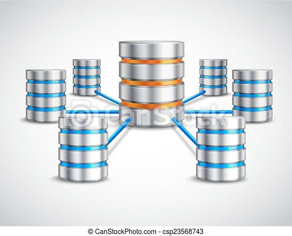 concepto, red, base de datos - csp23568743