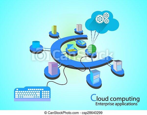 concepto, red, nube - csp28640299