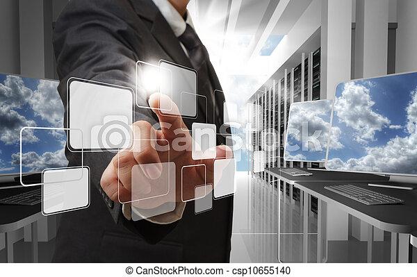 concepto, red, nube - csp10655140