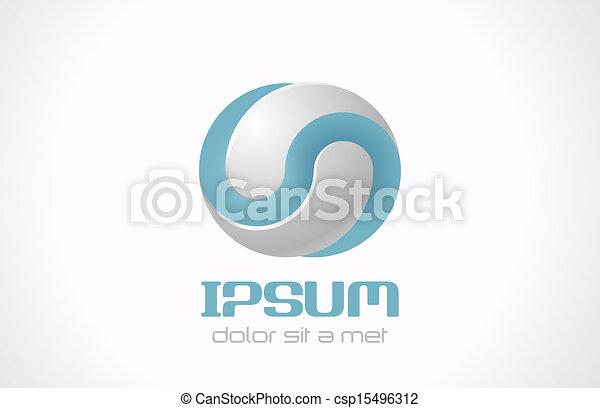 concepto, resumen, cosméticos, pharmacy., vector, medicina, plantilla, infinito, logotipo, icon., tecnología, símbolo - csp15496312