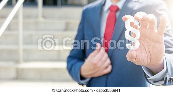 concepto, símbolo, párrafo, -, ofertas, abogado, ley, imagen - csp53556941