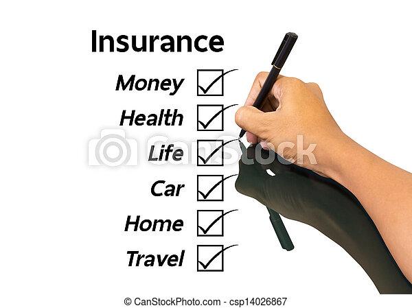 Un concepto de seguro - csp14026867