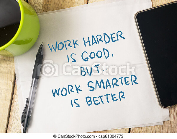 Trabajar Más Inteligente No Más Duro Palabras