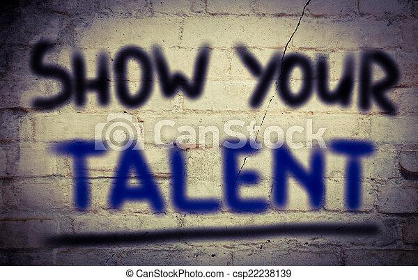 Muestra tu concepto de talento - csp22238139