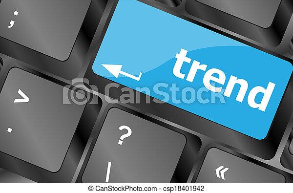 Botón en el teclado de la computadora, concepto de negocios - csp18401942