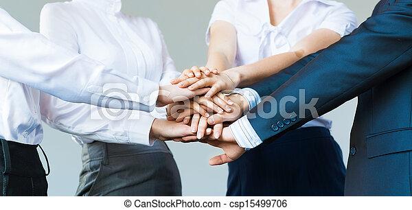 Concepto el trabajo en equipo - csp15499706