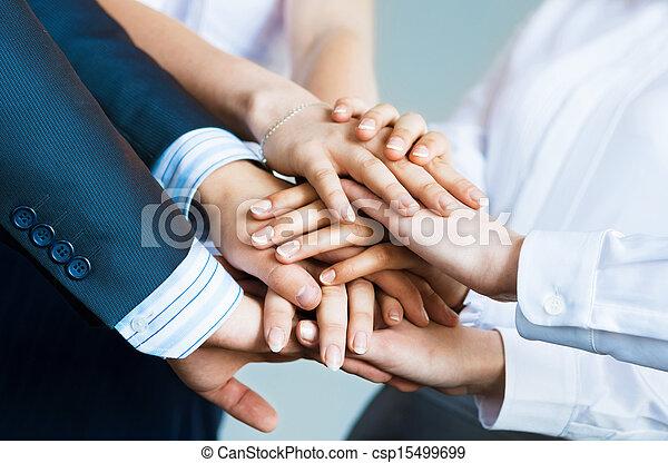 Concepto el trabajo en equipo - csp15499699