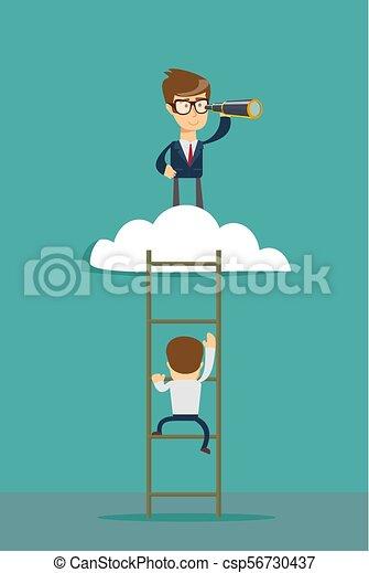 El concepto de vector de liderazgo de negocios - csp56730437