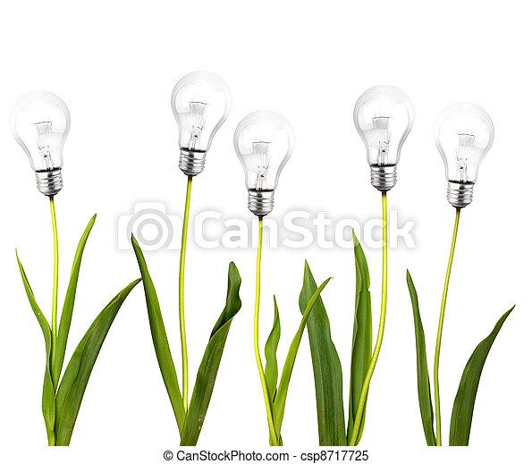 Un concepto de ideas verdes - csp8717725