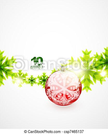 Un concepto de Navidad verde - csp7465137