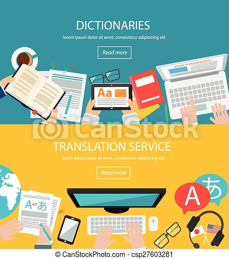 Concepts for foreign language translation - csp27603281