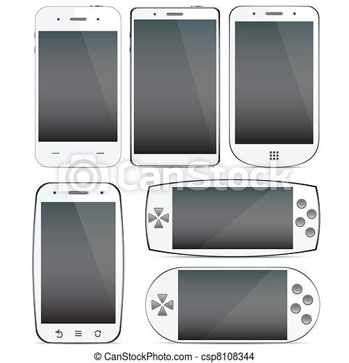 Un conjunto de conceptos de smartphone. - csp8108344