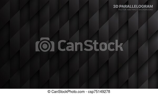 Conceptual 3d Vector Parallelograms Pattern Technological Dark