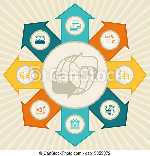 Conceptual banking and business infographic. - csp15355372