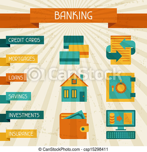 Conceptual banking and business background. - csp15298411