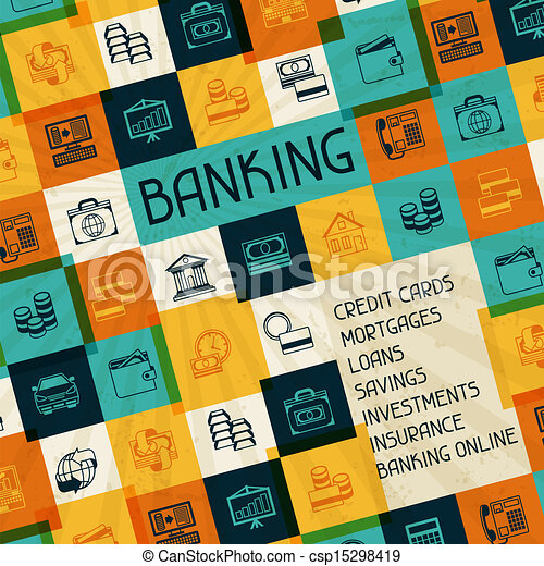 Conceptual banking and business background. - csp15298419