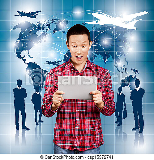 Conceptual Business Background - csp15372741