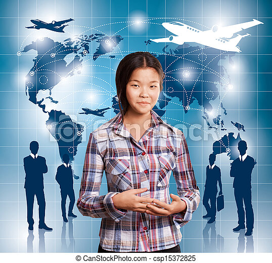 Conceptual Business Background - csp15372825