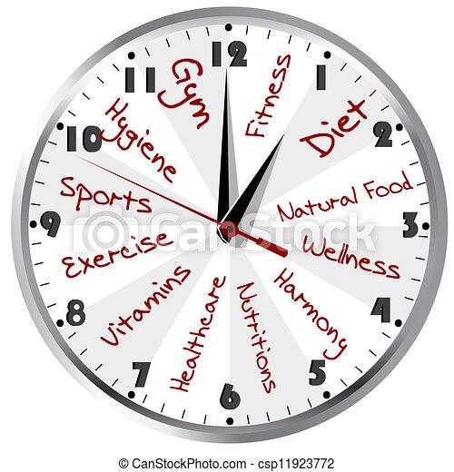 Conceptual clock for a healthy life - csp11923772