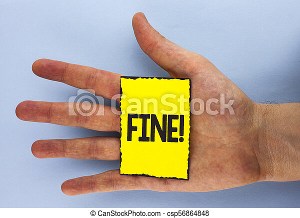 Conceptual hand writing showing Fine Motivational Call. Business photo showcasing No hidden charges from large moving companies written on Yellow Sticky Note Paper on plain background Hand. - csp56864848