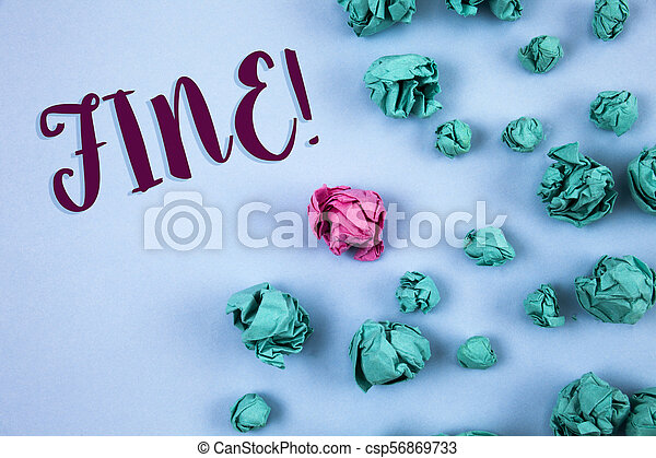 Conceptual hand writing showing Fine Motivational Call. Business photo text No hidden charges from large moving companies written on Plain Blue background Paper Balls next to it. - csp56869733