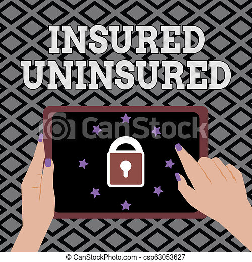 Conceptual hand writing showing Insured Uninsured. Business photo showcasing Company selling insurance Checklist to choose from - csp63053627