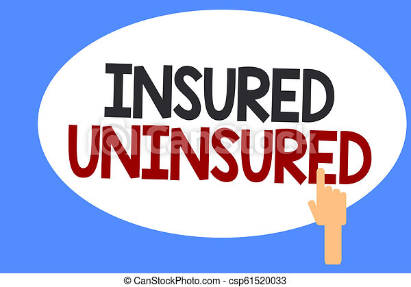 Conceptual hand writing showing Insured Uninsured. Business photo showcasing Company selling insurance Checklist to choose from - csp61520033