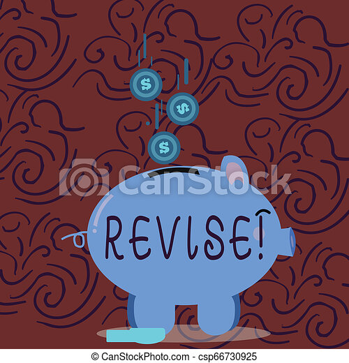 Conceptual hand writing showing Revise. Business photo showcasing Reconsider something to improve it Review. - csp66730925