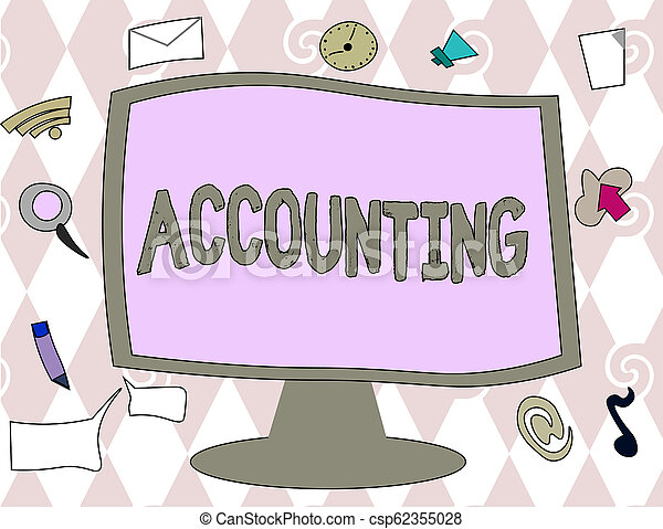 Conceptual hand writing showing Accounting. Business photo text Process Work of keeping and analyzing financial accounts - csp62355028