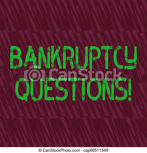 Conceptual hand writing showing Bankruptcy Questions. Business photo showcasing discarding debt or making a plan to repay debts Seamless Isosceles Triangle Maroon Tone in Abstract Pattern. - csp68511549