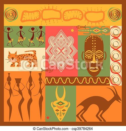 Conceptual illustration of Africa - csp39784264