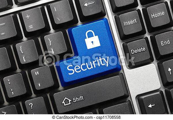 Conceptual keyboard - Security (blue key) - csp11708558