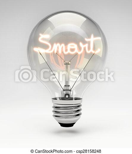 Conceptual Light Bulb Set Smart Light Bulb With Realistic Fluorescent Filament Smart Concept Set