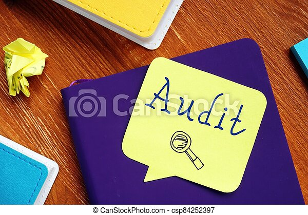 Conceptual photo about Audit with handwritten text. - csp84252397