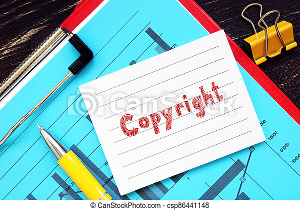 Conceptual photo about Copyright  with handwritten text. - csp86441148